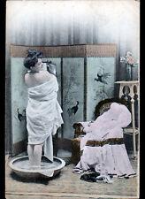 FEMME à la TOILETTE & PARAVENT avant 1900