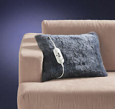 Sunbeam TR8100 Feel Perfect Faux Fur Heated Cushion - Grey - HURRY LAST 7 UNITS!