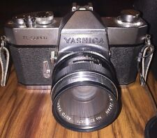 Old Camera Yashica TL Super in Case With Flash