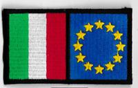 [Patch] BANDIERA ITALIA EUROPA 8,5 x 5 cm toppa ricamata ricamo -482