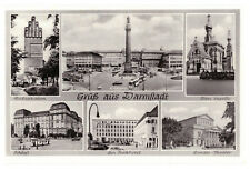Darmstadt, Germany Multiview Rare Vintage Black & White Postcard Unposted