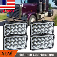 4PCS LED Headlights H/Low Sealed Beam For Freightliner FLD132 120 Classic Truck