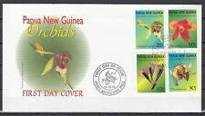 Papua New Guinea, Scott cat. 944-947. Orchids issue on a First day cover.