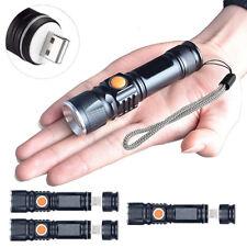 3x LED USB TORCIA POLIZIA SWAT RICARICABILE CREE 1200 Lumen resistente all'acqua