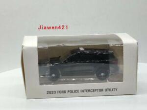 1:64 Greenlight  2020 Ford Police Interceptor Utility Diecast Car Model BLACK