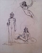 Sketches of Egyptian figures