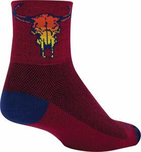 SockGuy Classic Desert Skull Socks | 3 inch | Red | L/XL