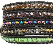 For 34 inches 5 Wrap bracelet Bangle Band Wrist Facet Jewelry Wrap color crystal