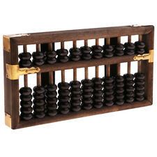 Vintage Chinese Wooden Bead 11 Rods Arithmetic Abacus Children Adult Gift