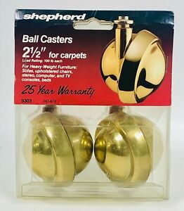 Vintage Swivel Shepard Ball Casters Set Of  Four