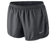 Nike Modern Tempo Embossed Women's Running, Gym Shorts, UK 12, Medium-Dark Grey