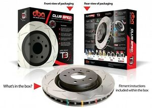 DBA42108S T3 Slotted Disc Rotors Suit Rear Ford FPV Falcon BA BF FG 328mm