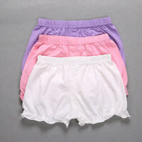 Girls Infant Cotton Pants Toddler Bloomers Baby Shorts Diaper Nappy Cover 0-12M