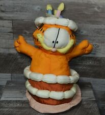 Garfield Nylon Plush Cast Of Characters Birthday Cake 1990 Spencer Gifts