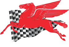 "Pegasus Decal Sticker Large Vintage Design Mobil Oil for Indoor/Outdoor 12""x20"""