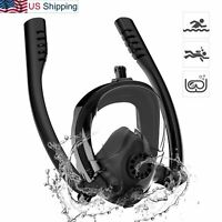 Snorkel Mask Diving Scuba Anti-Fog Full Face 180 View Swimming with GoPro Mount
