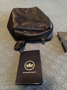 Peter Millar Crown Sport Canvas Shave Kit Bag Cologne Cream Moisturizer Lip Balm