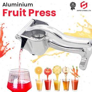 UK Stainless Steel Manual Juicer Hand Lemon Juice Squeezer Fruit Press Extractor