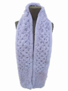 Winter Real Fur Scarf For Women Rex Rabbit Neckerchief Hollow out woven pattern