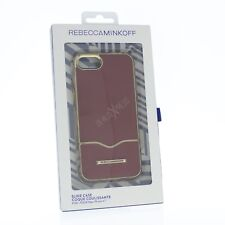 NEW Rebecca Minkoff Iphone 7 Case Designer Phone Case MREOON LEATHER & GOLD