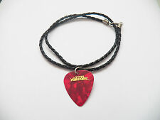 STEEL PANTHER guitar pick plectrum braided LEATHER NECKLACE 20""