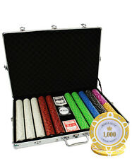 1000 14G MONTE CARLO POKER ROOM CLAY POKER CHIPS SET