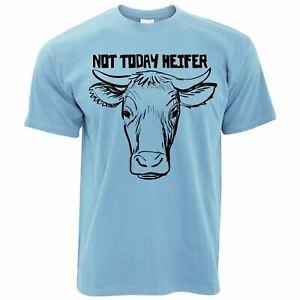 Mens Not Today Heifer T Shirt Farm Cow Slogan Animal Livestock Bull Tee