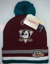 Mitchell & Ness Mighty Ducks hockey BEANIE CAPPELLO NEW bordeaux supreme