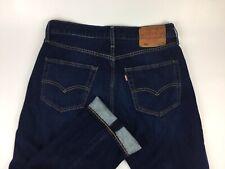 Levis 501 Big E Button Fly Men Jeans Denim Size W31/32 L30 Slim