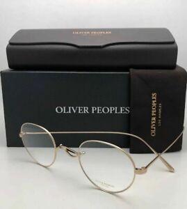 New OLIVER PEOPLES Eyeglasses WHITT OV1241T 5292 45-24 White Gold Titanium Frame