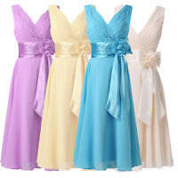 2016 Short Chiffon Evening Bridesmaid Prom Dress Formal Wedding Party Ball Gown