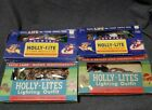 Vintage Holly Lites Christmas Holiday Light Sets LOT of 4 Boxes 905J and 1905J