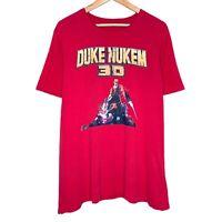 Duke Nukem 3D Graphic Mens Red T-Shirt Size Large
