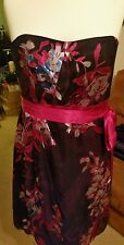 Monsoon. Ladies Purple and Pink Floral Strappy Dress. Size 18. New with tags.