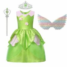 Girls Tinkerbell Dress Costume Tinker Bell Fairy Princess Party Fancy Birthday