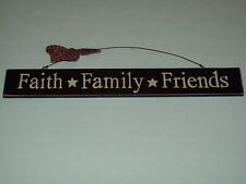 Hanging Sign Faith Family Friends Country Home Decor With Free Shipping Included