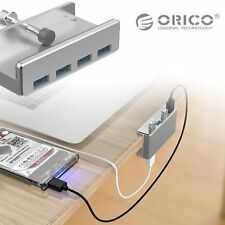 ORICO Aluminum 4 Ports USB 3.0 HUB Adapter for Desktop Laptop Clip Range 10-32mm