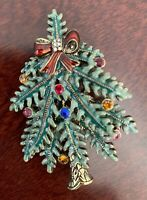 Vintage Avon First Annual Signed Christmas Tree Pin Brooch 2004