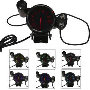 3.5  Inch Car Auto 11000 RPM Tachometer LED Gauge with 7 Colors Backlight J0L5