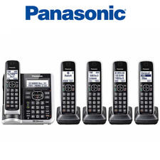 Panasonic KX-TG885SK DECT 6.0 Bluetooth 5-Handset Cordless Phone Voice