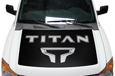 Vinyl Decal Graphics TITAN Hood Wrap Kit for Nissan Titan 2004-2013 Matte Black