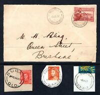 Queensland SURAT postmark selection including cracker 1927 Canberra FDC