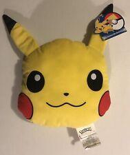 "NEW Pokemon Pikachu Head Pillow - Yellow (12"")"