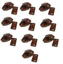 10 x Brown Roller Catches For cupboard Locker Caravan Motorhome, Bailey, Swift