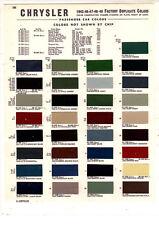 1941 1942 1946 1947 1948 1949 CHRYSLER WINDSOR NEW YORKER PAINT CHIPS 4249MS3