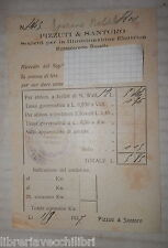 Old receipt company for the Electric Lighting LENNY & Santoro Salerno