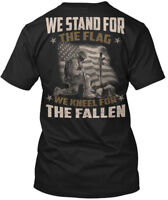 Veteran , We Stand For The Flag - Kneel Fallen Hanes Tagless Tee T-Shirt
