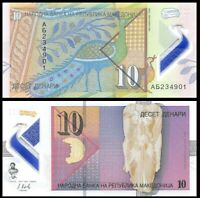 MACEDONIA 10 Denari, 2018, P-NEW, Peacock, Polymer, UNC World Currency