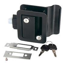 Black RV Paddle Entry Door Lock Latch w/ Key Handle Knob Deadbolt Camper Trailer