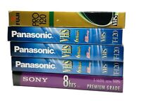 Lot Of 5 New And Sealed VHS Cassette Tapes Panasonic - Sony - Fuji